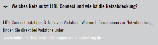 LIDL connect Netz